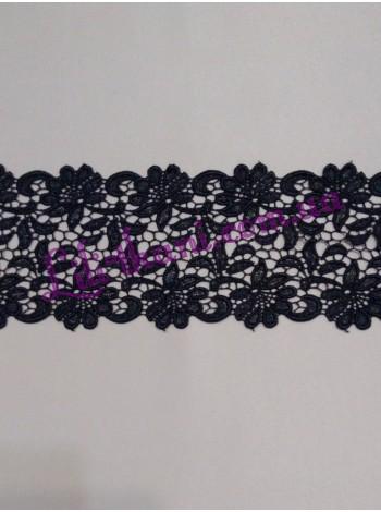 Кружево макраме черного цвета
