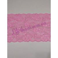 Кружево эластичное розового цвета