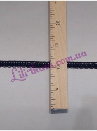 Кружево эластичное узкое черного цвета