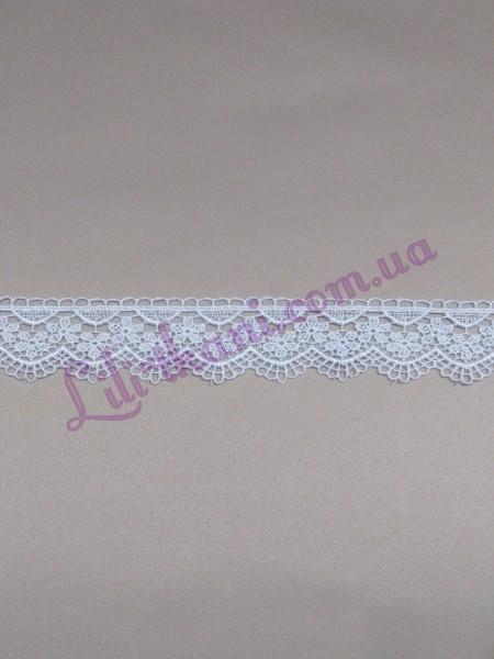 Кружево макраме белого цвета