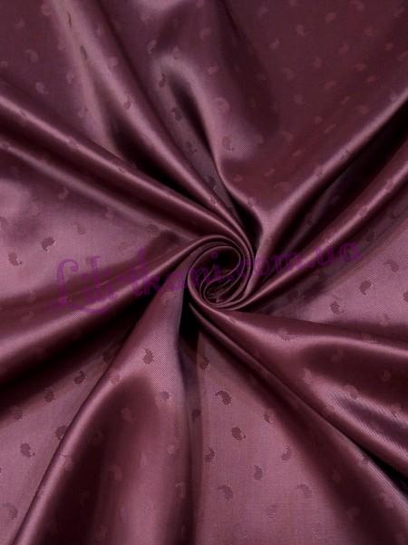 Подкладка жаккардовая бордового цвета
