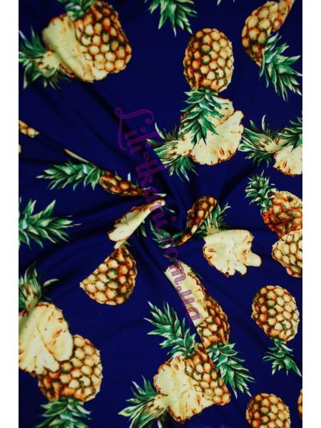 Штапель принт ананас