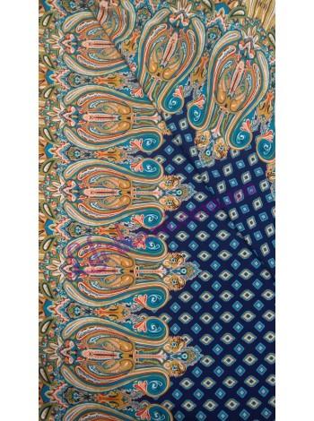 Штапель купонный синего цвета