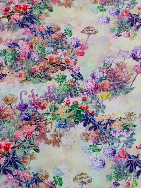 Штапель с цветочным принтом