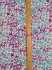 Штапель в голубые и фиолетовые цветы