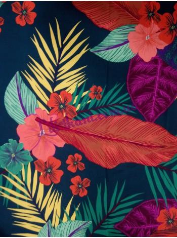 Штапель в цветные тропические листья
