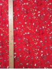 Штапель красный в цветы