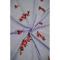 """Рубашечная с вышивкой """"Цветы"""""""