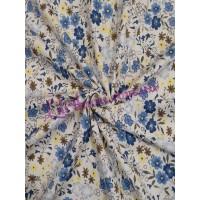 Рубашечная в голубые цветы