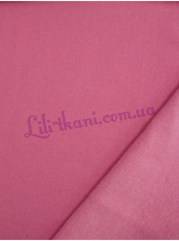 Трикотаж трехнитка розового цвета