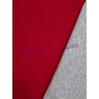 Трикотаж двухсторонний красно-серый